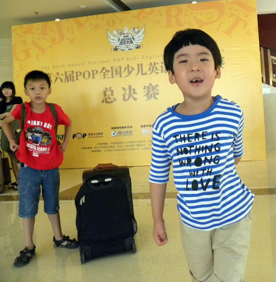 第六届POP少儿英语风采大赛总决赛赛前小选手抓拍