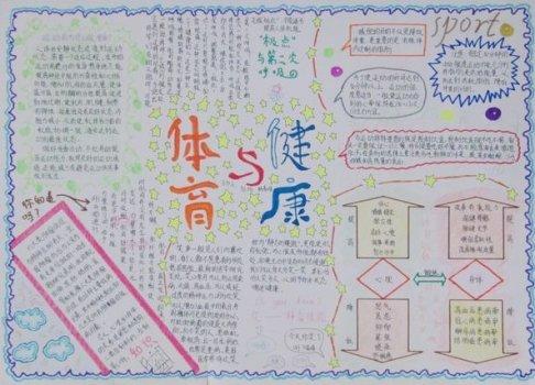 体育健康小报-中学体育手抄报精品展示 一图片