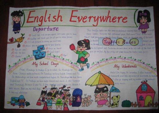 英语手抄报欣赏(五)_初一课外阅读