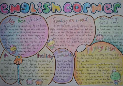 小学生英语手抄报作品