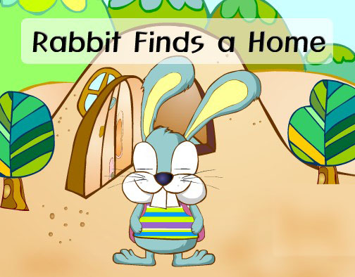 幼儿英语故事:小白兔寻找家-英语幼儿故事 英语幼儿 英语 三只小猪盖