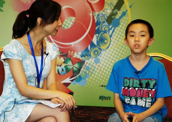 第六届POP全国少儿英语风采大赛15强选手专访:C组张泽宇