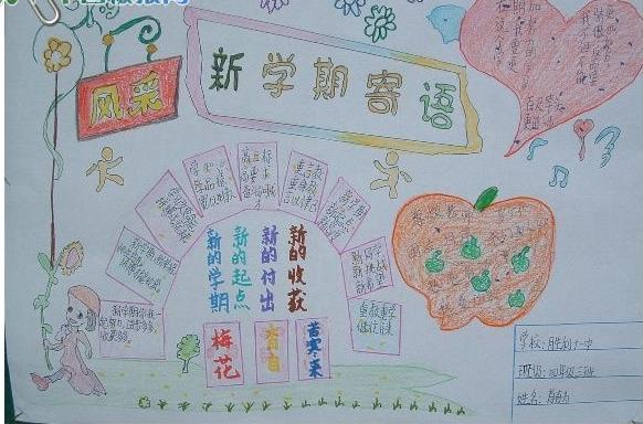 新学期小学手抄报板式图