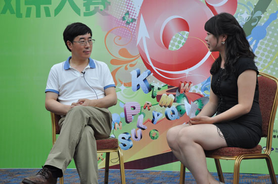 陈向东接受新东方网采访