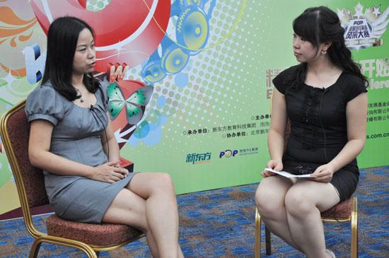 谢琴接受新东方网采访