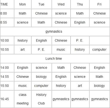 英文色情网_新初一暑假英语:阅读理解millie班的课程表-新东方网
