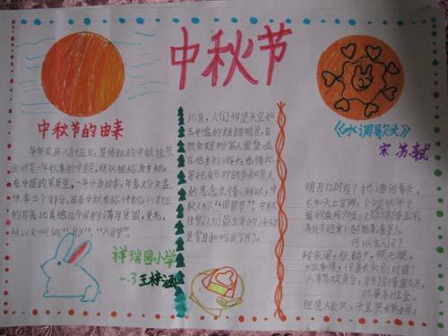 中学生中秋节手抄报:中秋节的由来