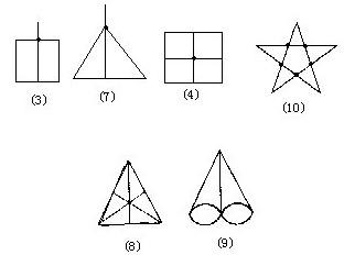 二年级数学习题 一笔画问题