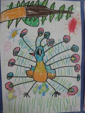 宝贝们喜欢画小动物,喜欢画小汽车,喜欢画美丽的花儿.