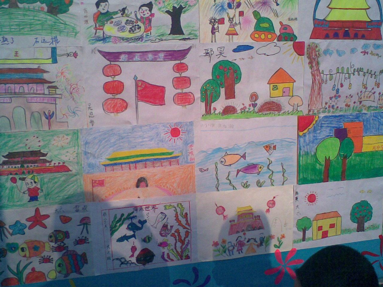 幼儿国庆节图画:国庆节幼儿涂鸦