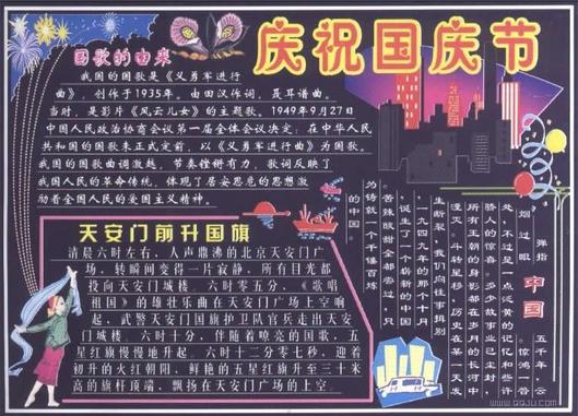 国庆黑板报资料 图