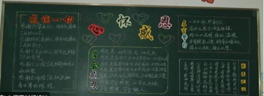 感恩节小学黑板报图片(最新)十五
