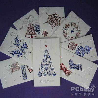 【立体圣诞贺卡制作】圣诞节纸质贺卡图片
