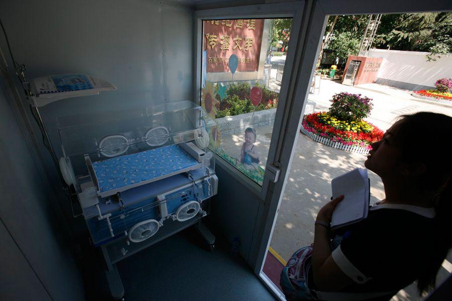 石家庄一福利院设弃婴接收设施