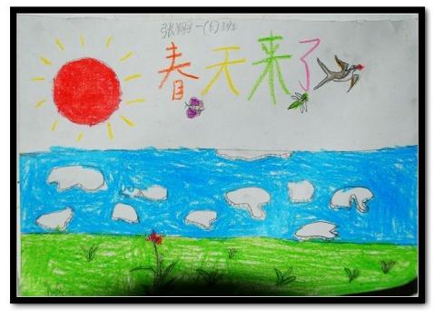 儿童画春天的图画