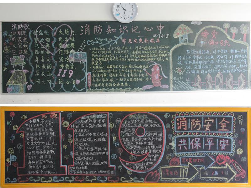 安全教育黑板报:消防安全记心中