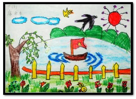 春天的图画(小学生绘画作品)
