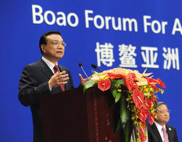 李克强在博鳌亚洲论坛2012年会开幕式的演讲