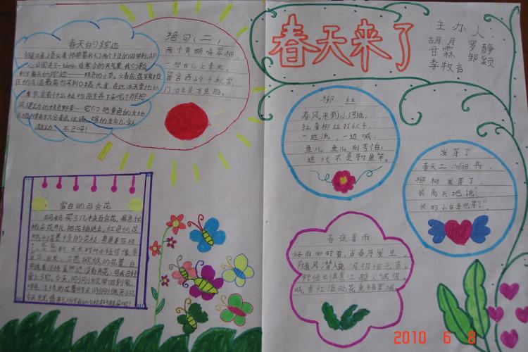 一年级下册春天来了 一年级下册春天 一年级下册画春天