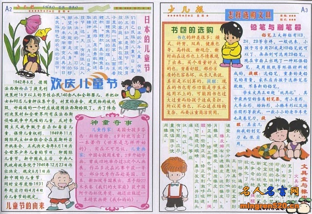 1儿童节手抄报 61儿童节手抄报资料 儿童节的由来