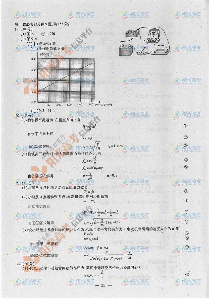 2012福建高考理综试题答案2