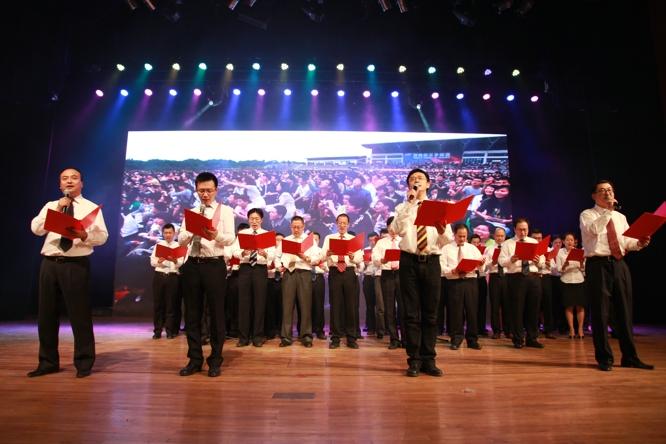 新东方2012财年总结表彰大会(唱歌)