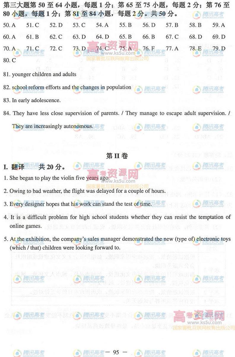 2012上海高考英语答案,2012上海高考英语试题答案,2012上海高考英语试题及答案,2012上海高考理综试题及答案,2012上海高考英语试卷答案,