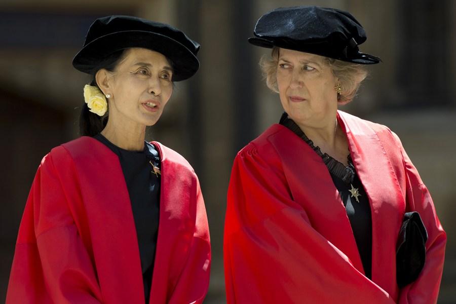 昂山素季获牛津大学荣誉博士学位