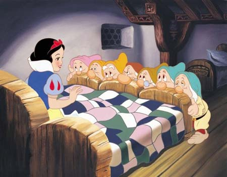韩语童话故事:白雪公主与七个小矮人