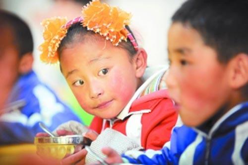 藏北牧区的现代幼儿园