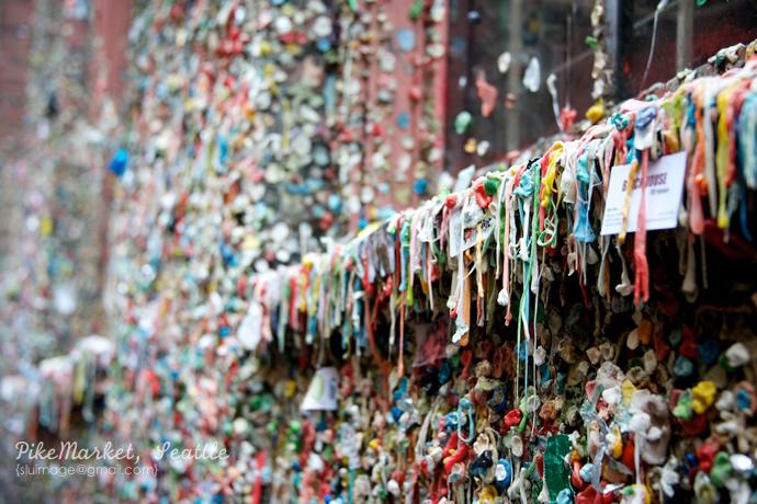 西雅图:世界上最恶心的一面墙:口香糖墙