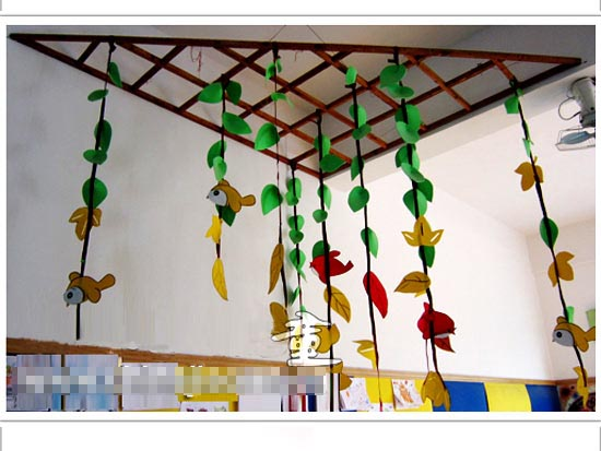 幼儿园吊饰图片:树叶1