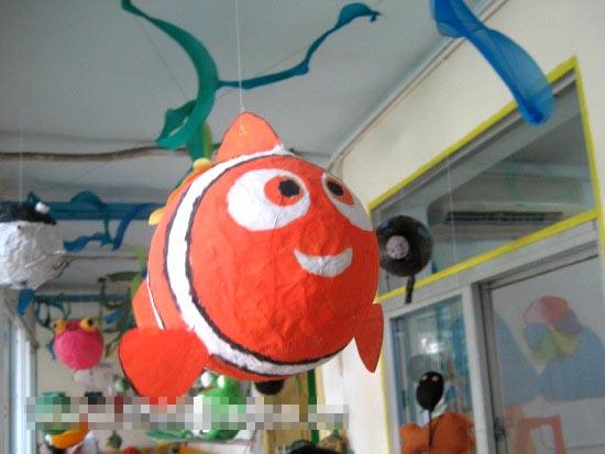 幼儿园吊饰图片:好大的鱼