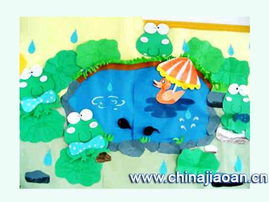 幼儿园主题墙图片:夏日池塘