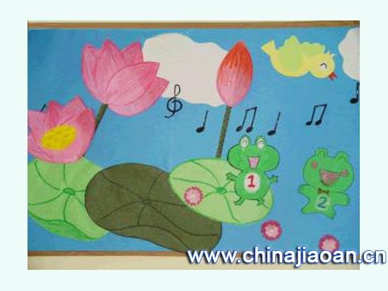 幼儿园主题墙图片:夏日荷花2
