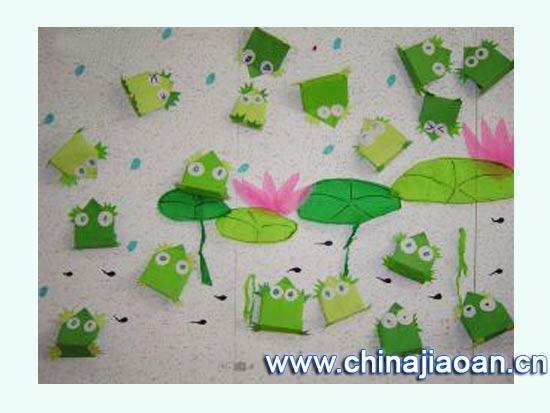 幼儿园主题墙图片:夏日荷花3