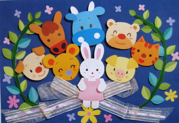 幼儿园主题墙面布置:好朋友