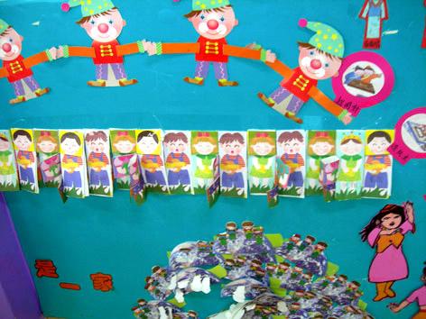 幼儿园主题墙面布置:我们是一家