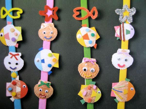 幼儿园主题墙面布置:五彩贝壳鱼
