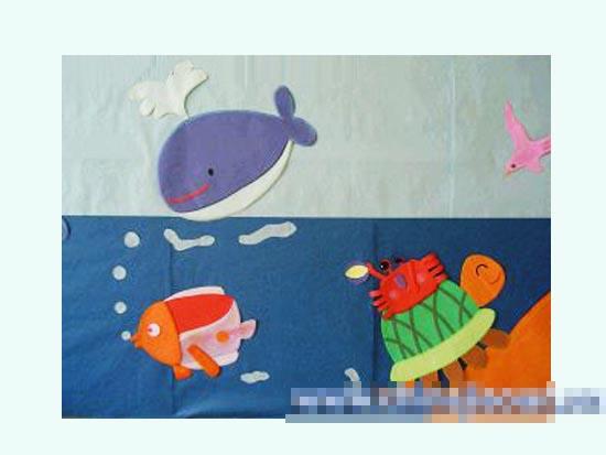 幼儿园主题墙图片:海洋