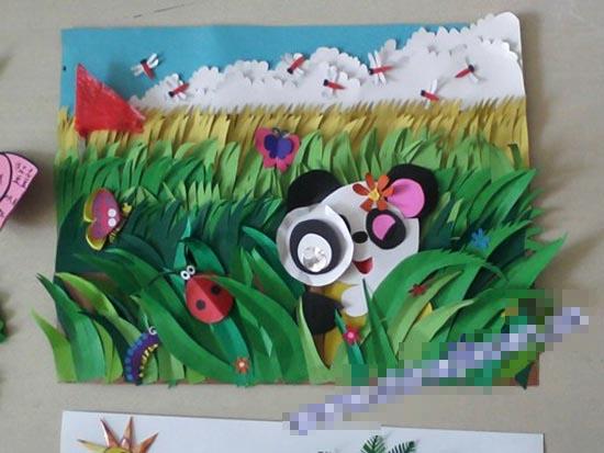 幼儿园半立体主题墙布置:草丛