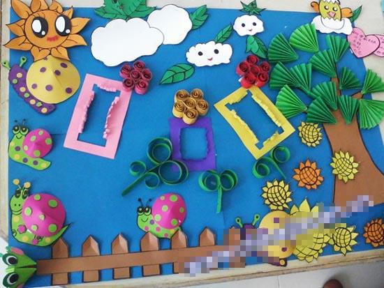 幼儿园半立体主题墙布置:美丽花园