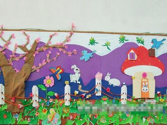幼儿园主题墙布置图片:春天来啦1