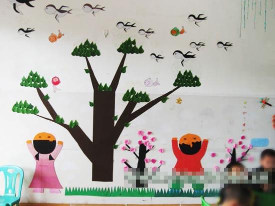 幼儿园主题墙布置图片:春天来啦2