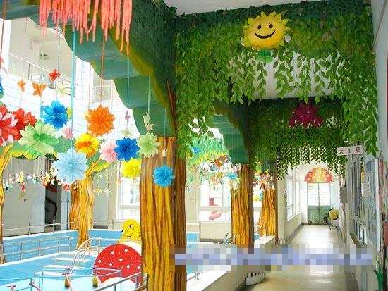 幼儿园走廊布置:绿满园图片