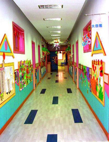 幼儿园走廊环境布置:彩色世界