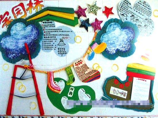 幼儿园家园栏布置:家园桥1