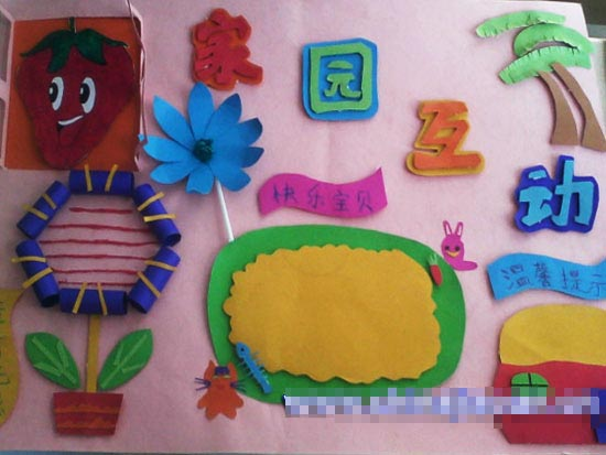 幼儿园家园栏布置:家园互动3