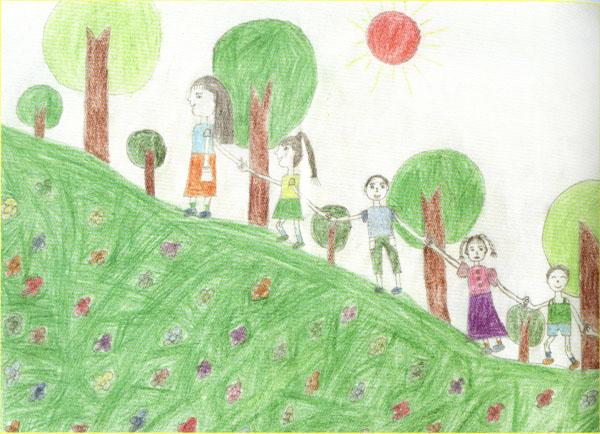 2012教师节个性礼物 绘画作品献恩师
