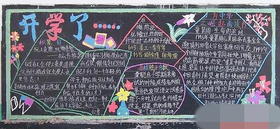 小学新学期黑板报 开学了黑板报图片